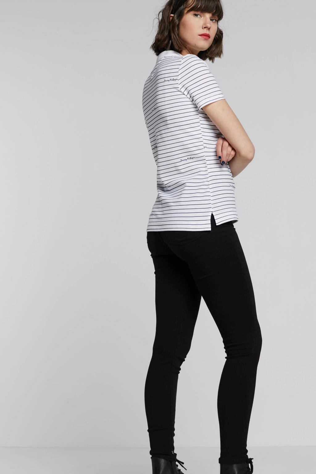Scotch & Soda high waist skinny fit jeans zwart, Zwart