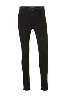 Scotch & Soda high waist skinny fit jeans zwart