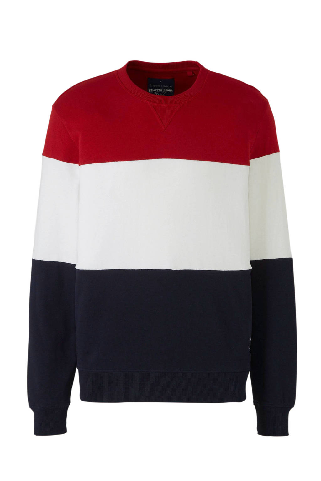 C&A Angelo Litrico sweater met strepen, Rood/wit/blauw