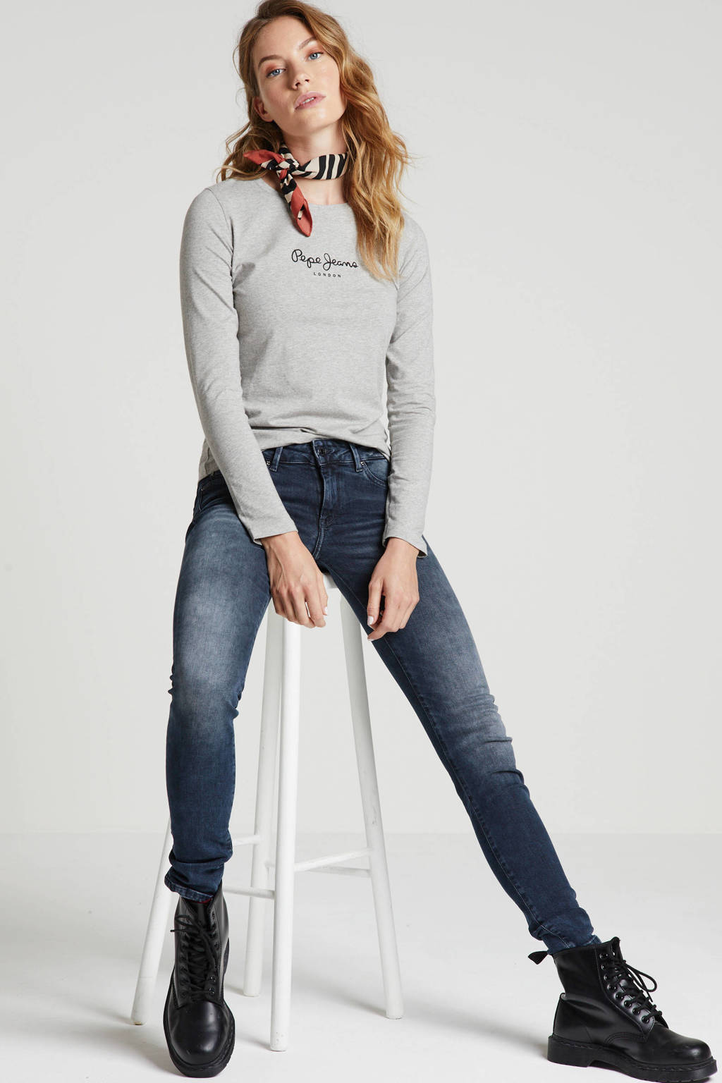 Pepe Jeans skinny jeans donkerblauw, Donkerblauw
