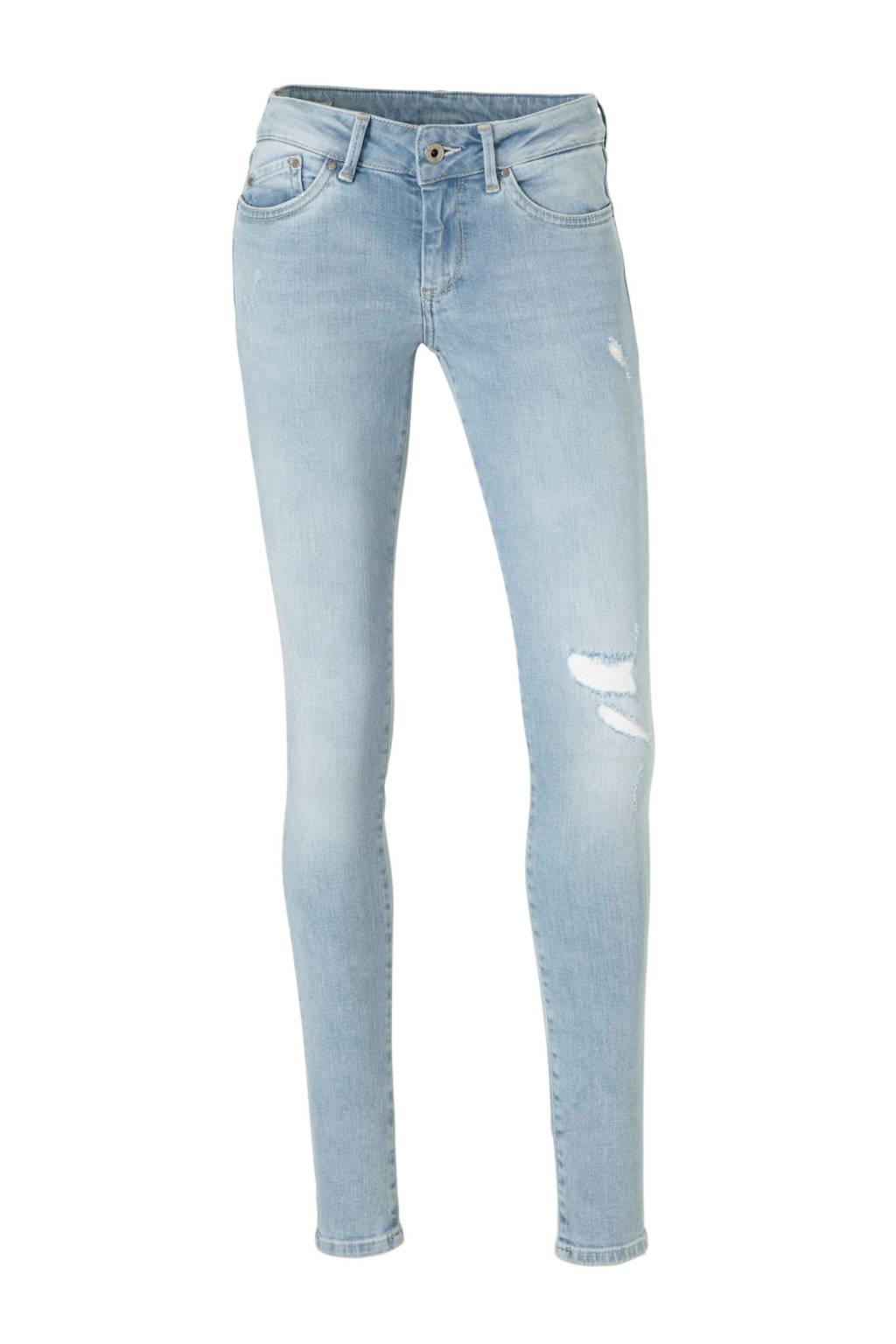 Pepe Jeans low waist skinny jeans, Lichtblauww