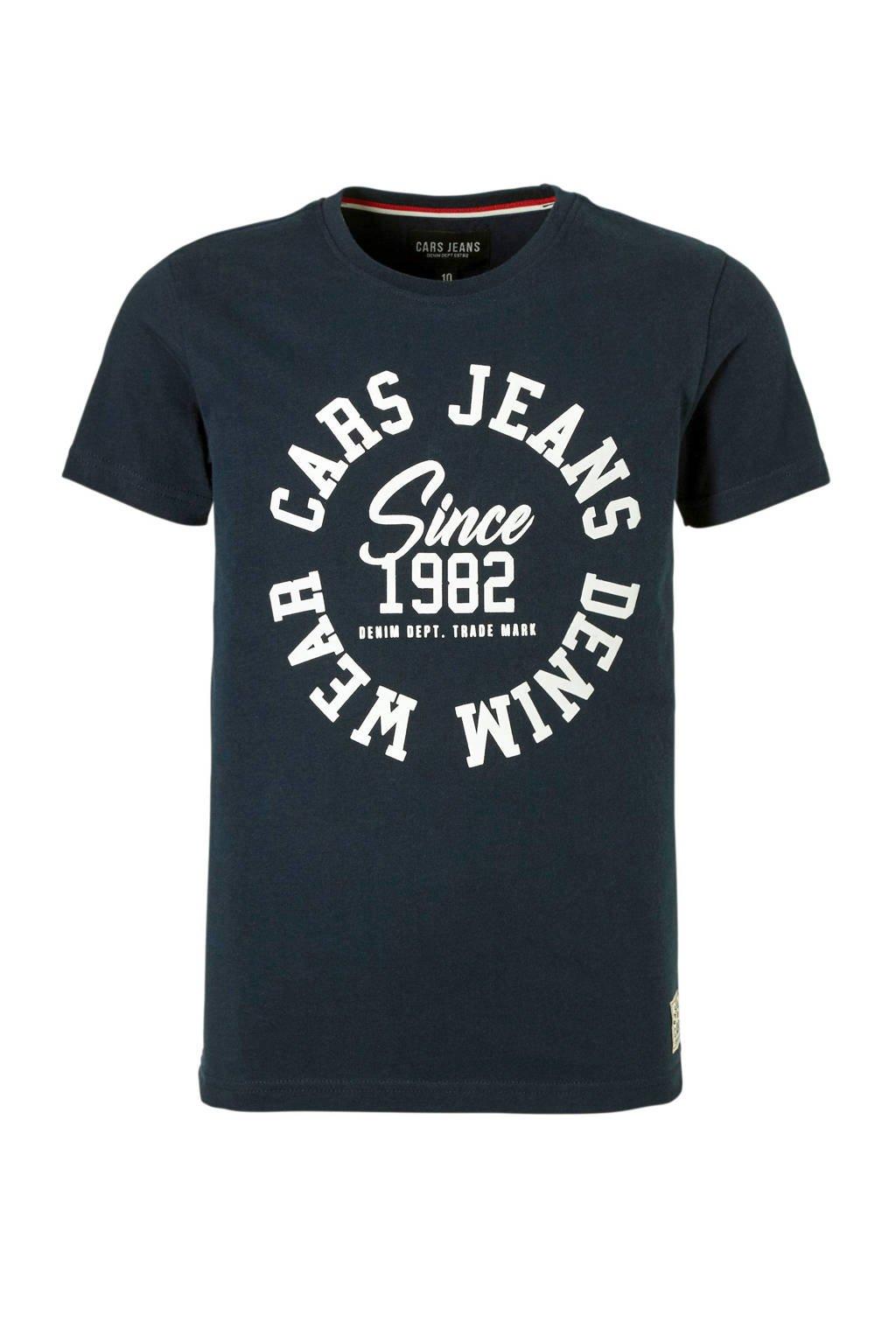 Cars T-shirt met tekst donkerblauw, Donkerblauw