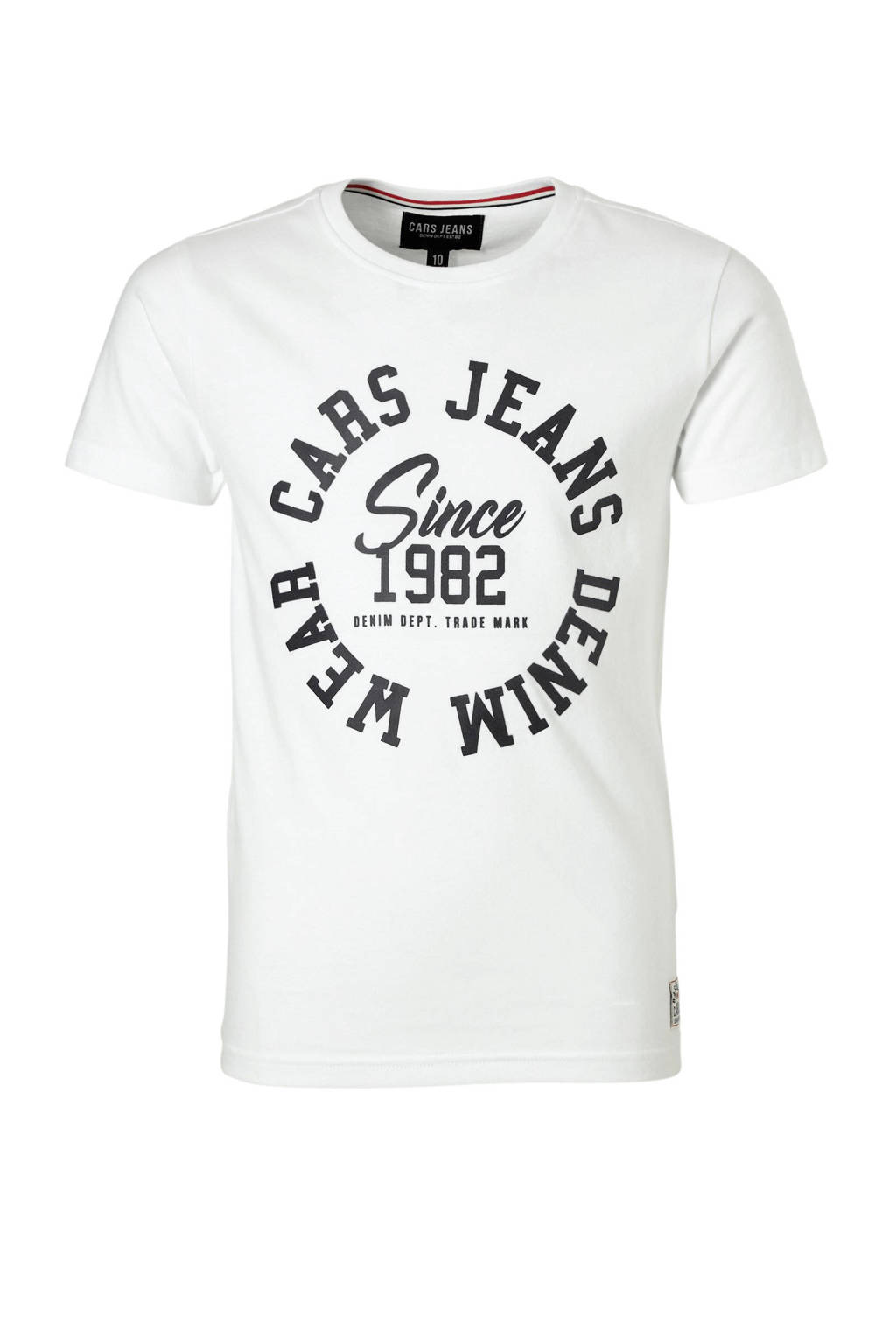 Cars T-shirt met tekst wit, Wit