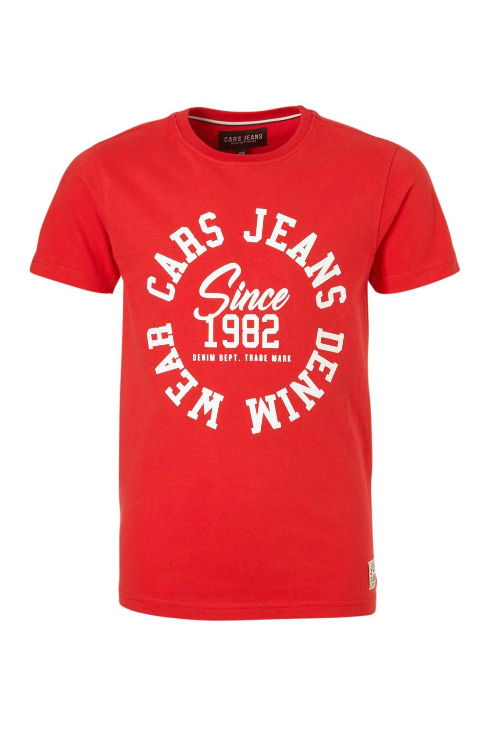Cars T-shirt met tekst rood, Rood