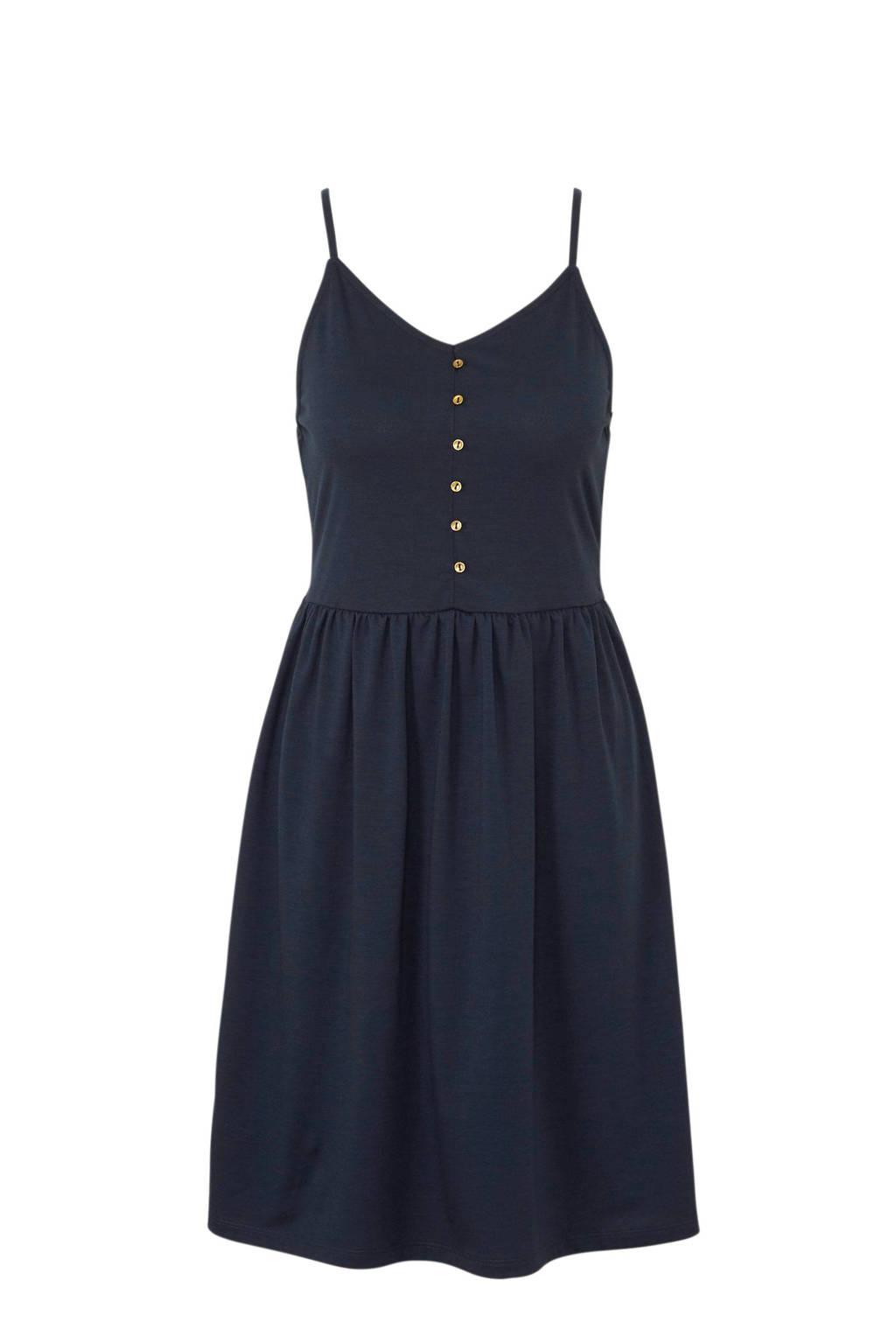 ca502582c29281 ESPRIT jurk met knopen donkerblauw