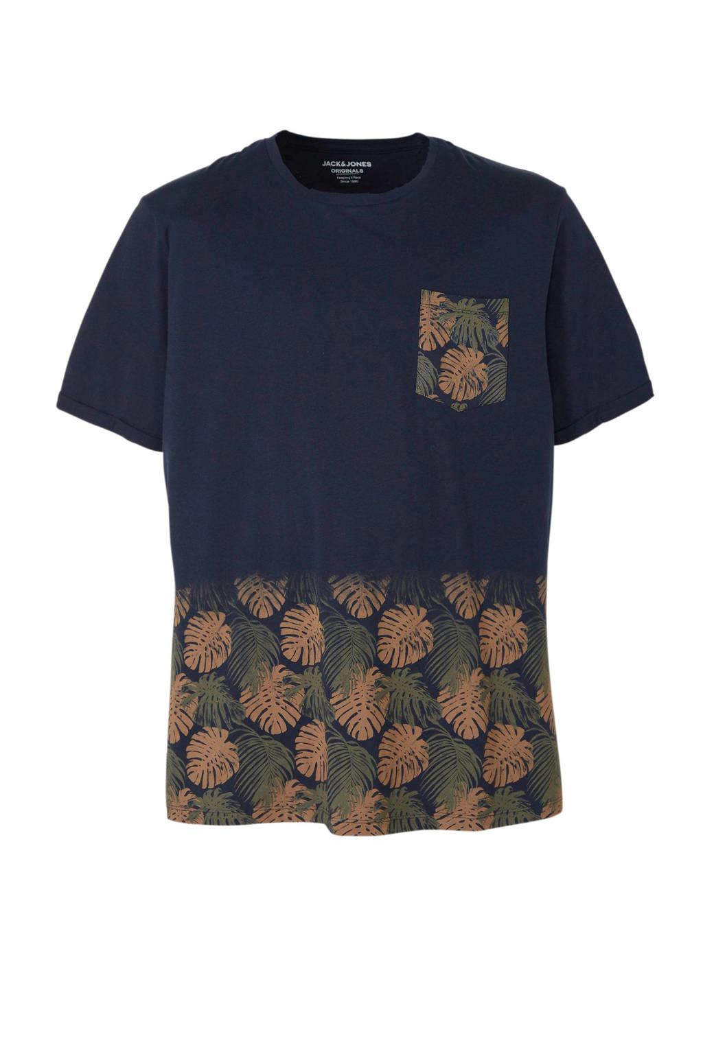 Jack & Jones Plus Size T-shirt, Donkerblauw
