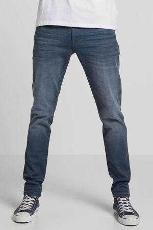 tapered fit jeans Dan coated dark blue
