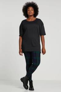 wehkamp plus size geruite legging groen, Groen