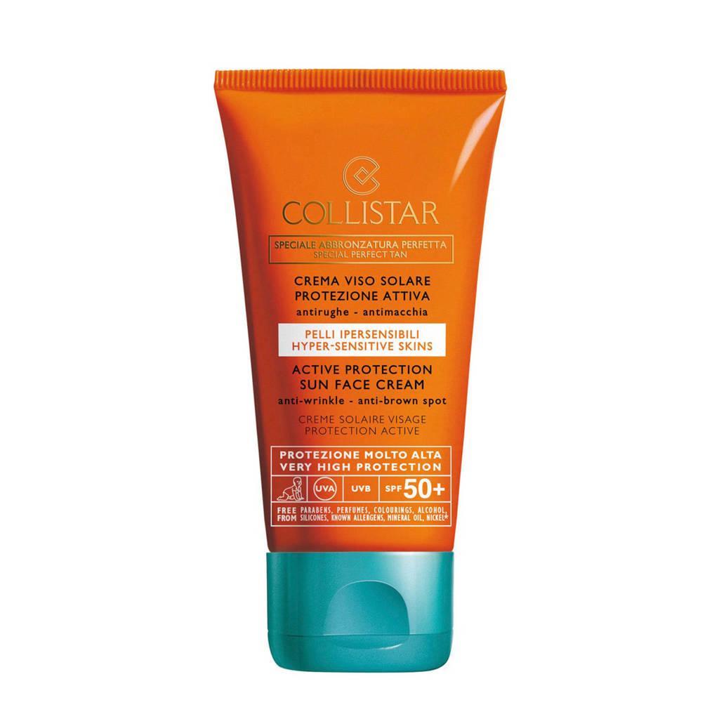 Collistar Sun Active Protection Face Cream SPF50 zonnebrand - 50 ml