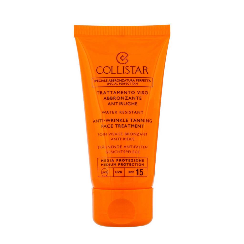 Collistar Sun Anti Wrinkle Tanning Face SPF15 zonnebrand - 50 ml