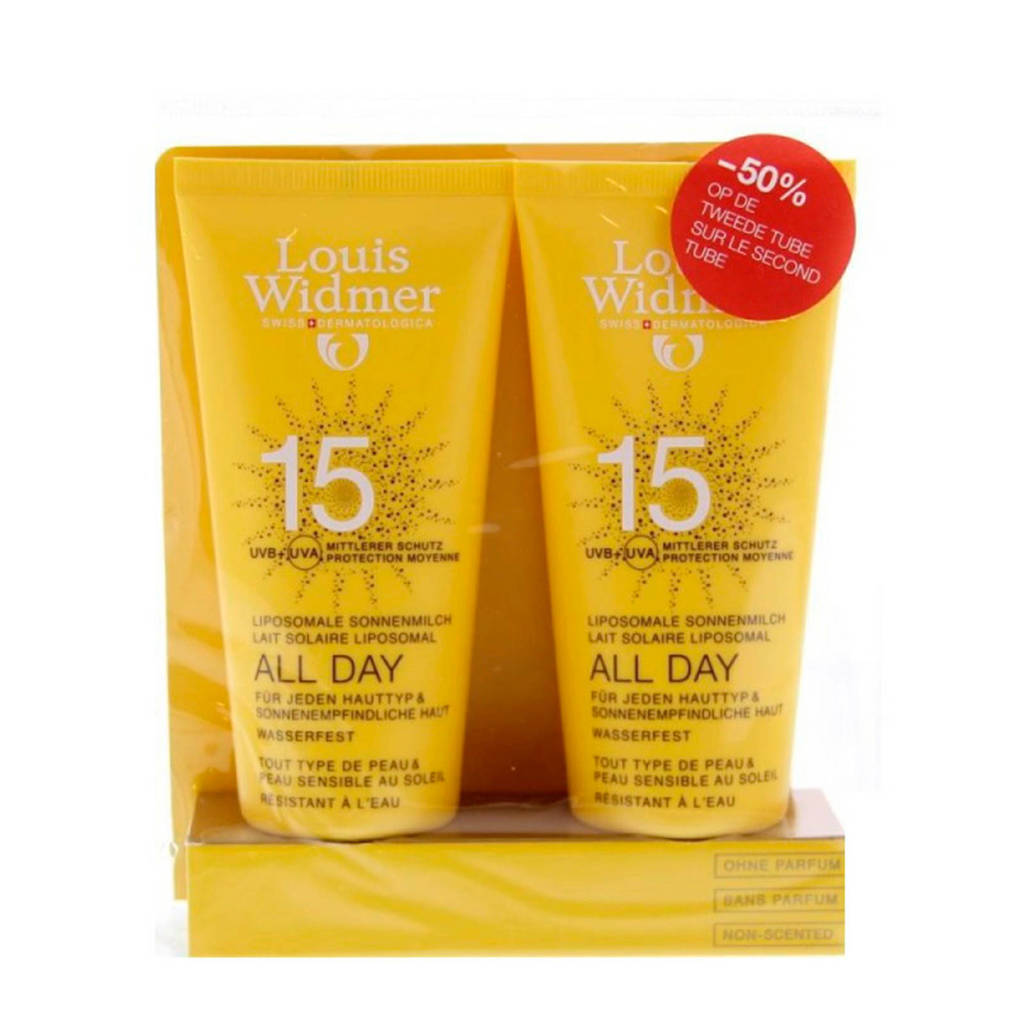 Louis Widmer All Day SPF15 Duo zonnebrand - 100 ml