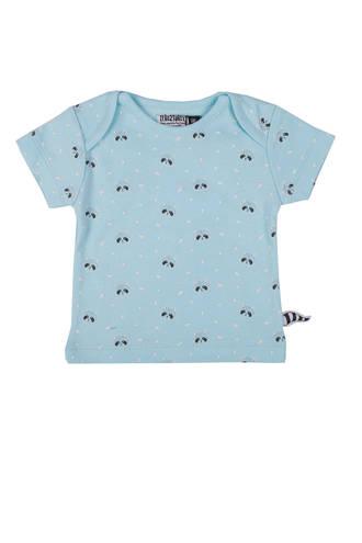 baby T-shirt met wasberen blauw