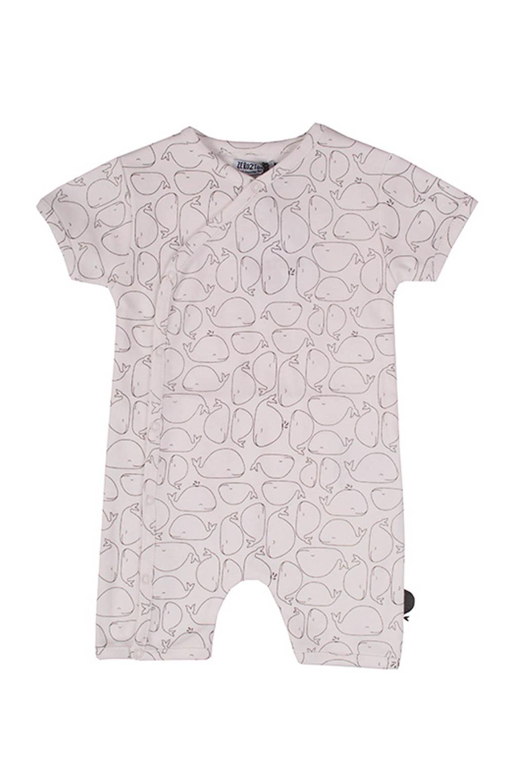 Zero2three baby boxpak Whale met all over print wit/grijs, Wit/grijs