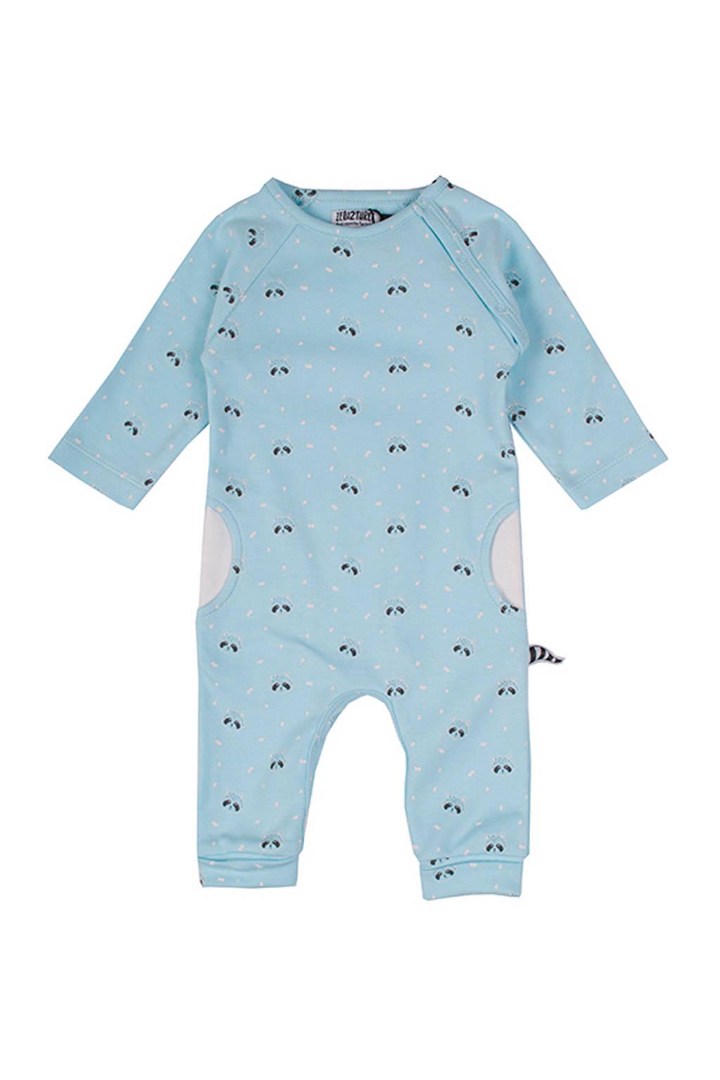 Zero2three newborn babyboxpak Raccoon met wasberen blauw, Lichtblauw