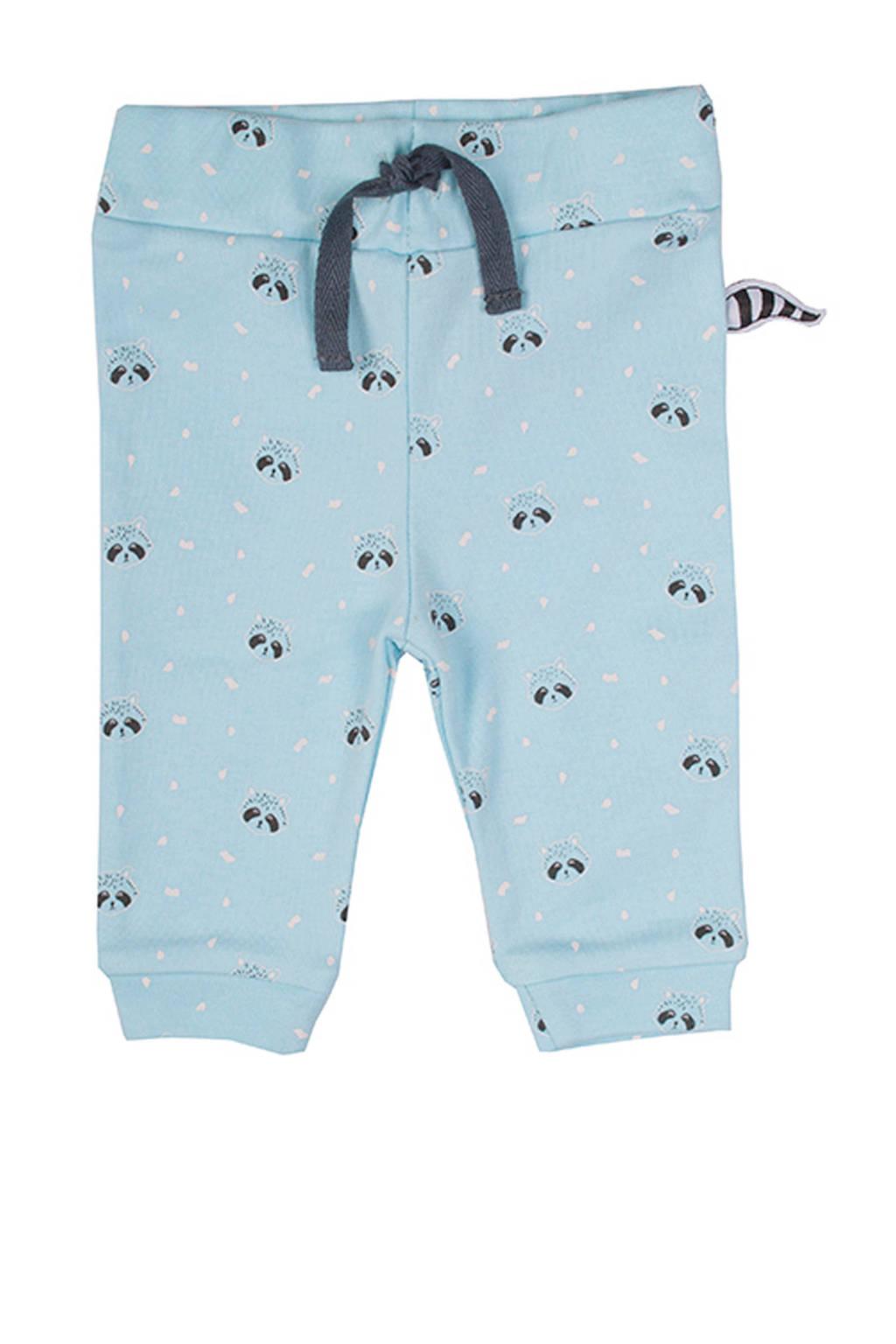 Zero2three baby broek met all over print lichtblauw/donkerblauw, Lichtblauw/donkerblauw