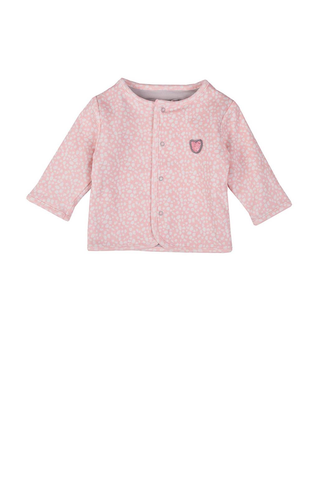 Zero2three baby vest met all over print roze, Lichtroze