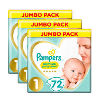 Pampers Premium Protection maat 1 (2-5 kg) 3x72 luiers