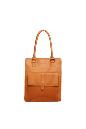 Wax Lane 14 leren shopper met laptopvak