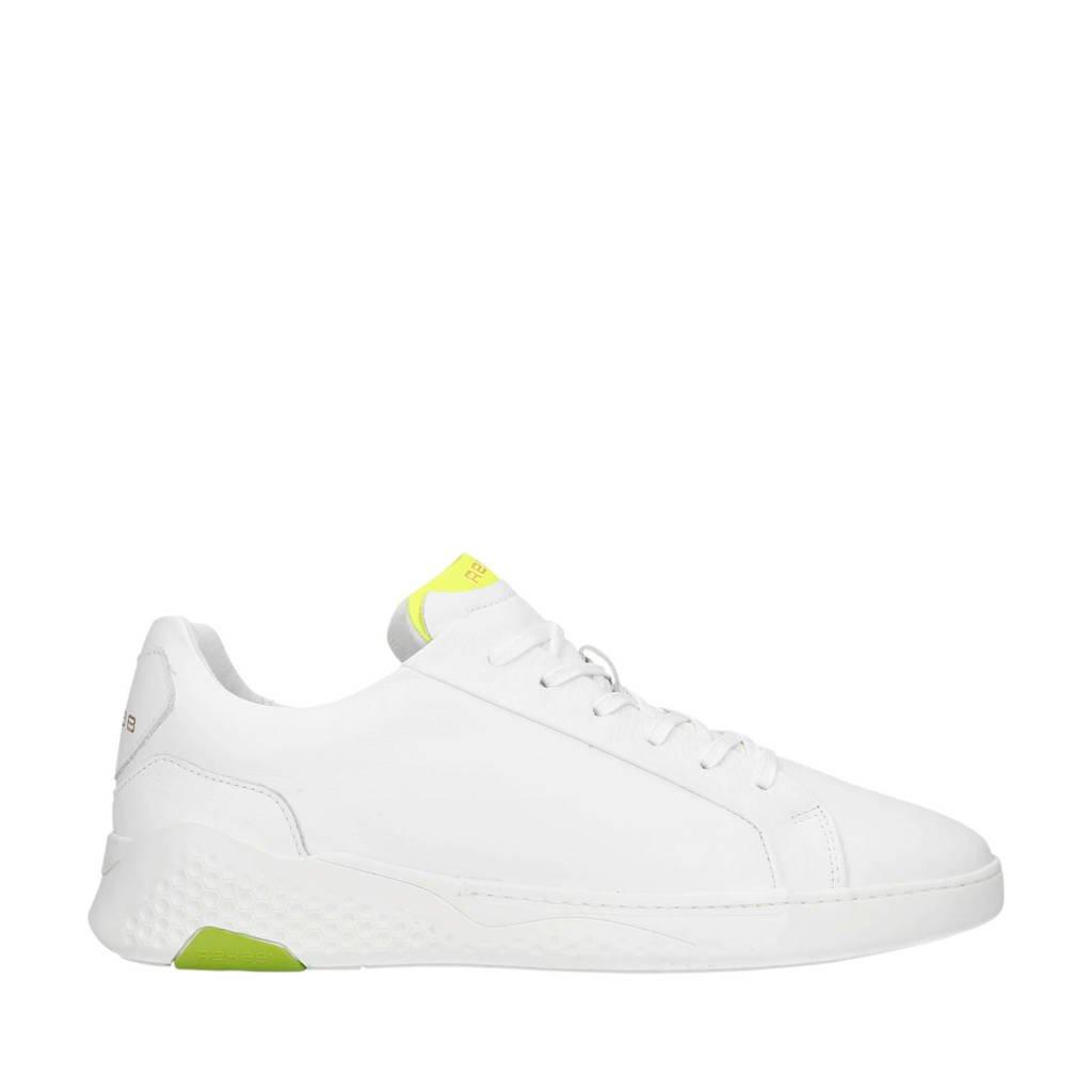Rehab   Rosco II Fluor leren sneakers wit/geel, Wit/geel