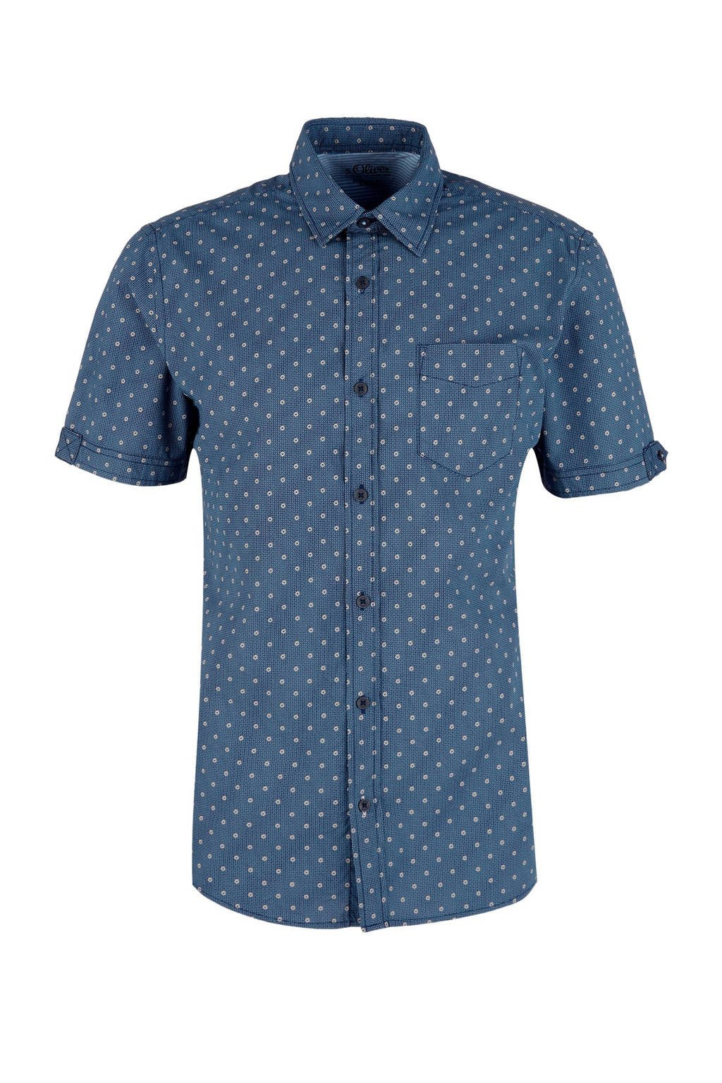 Overhemd Print.Regular Fit Overhemd Met All Over Print