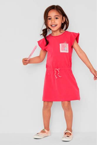 jurk met print roze