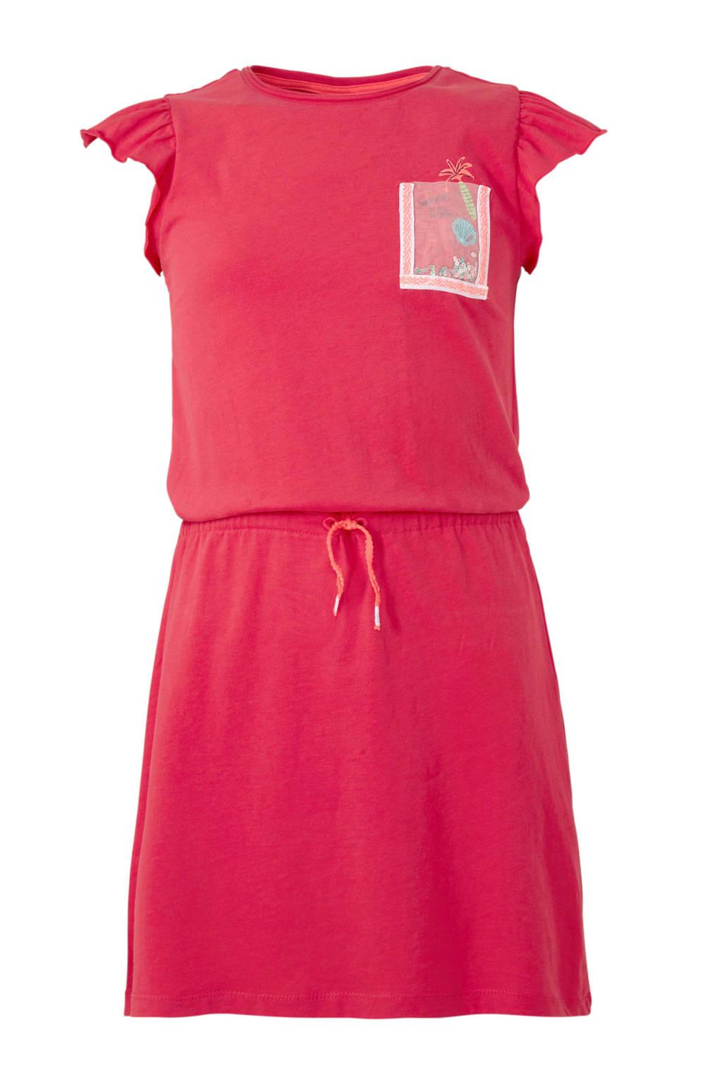 s.Oliver jurk met print roze, Roze/wit