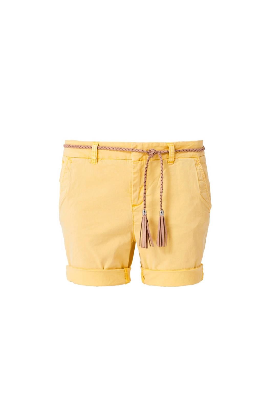 s.Oliver regular fit short geel, Geel