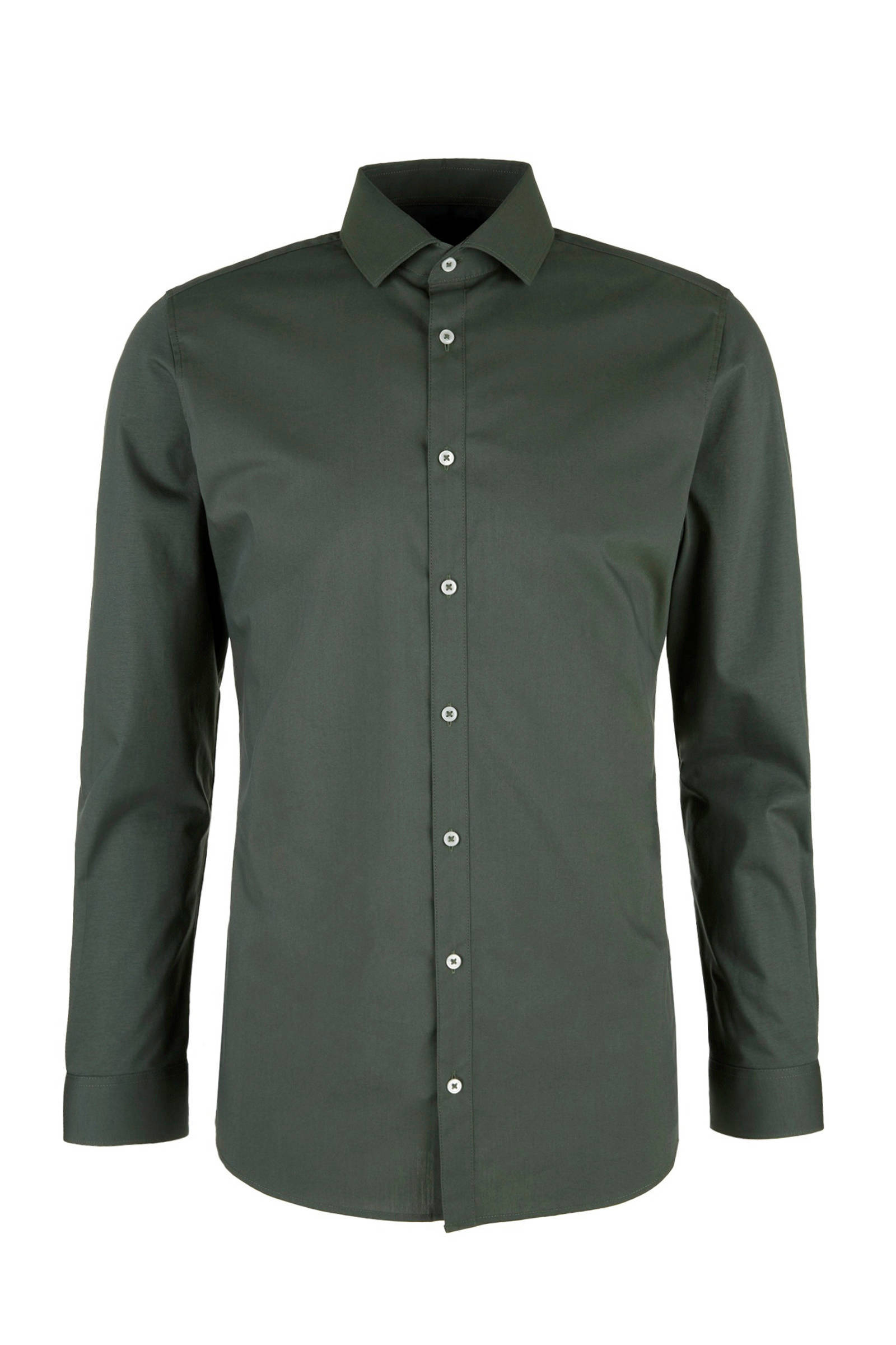 Donkergroen Overhemd.S Oliver Black Label Slim Fit Overhemd Wehkamp