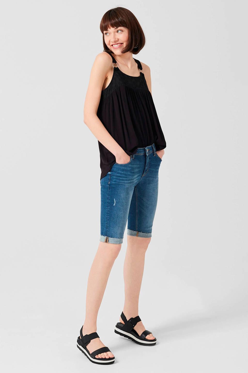 Q/S designed by jeans short dark denim, Dark denim