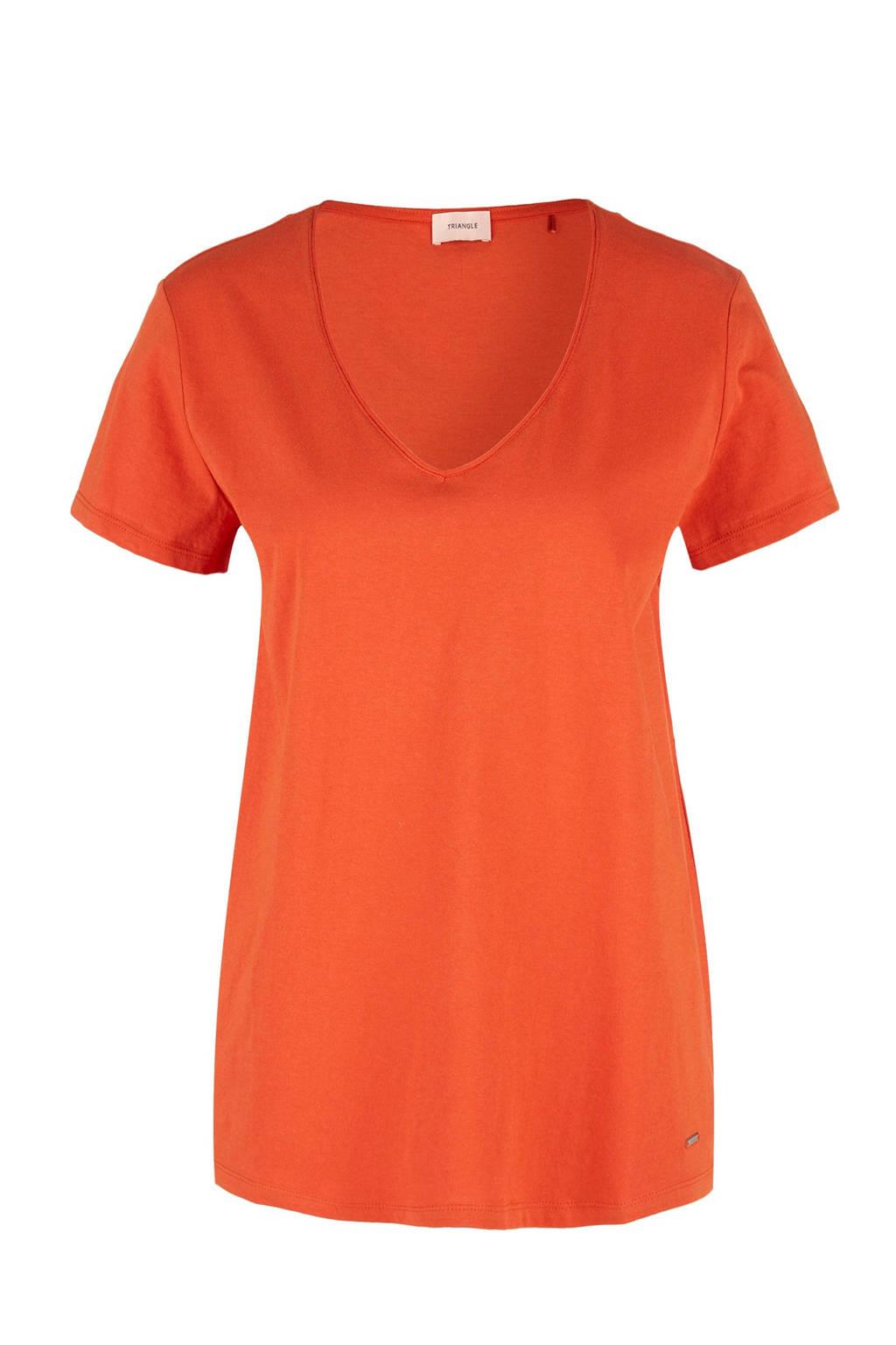 TRIANGLE T-shirt oranje, Oranje