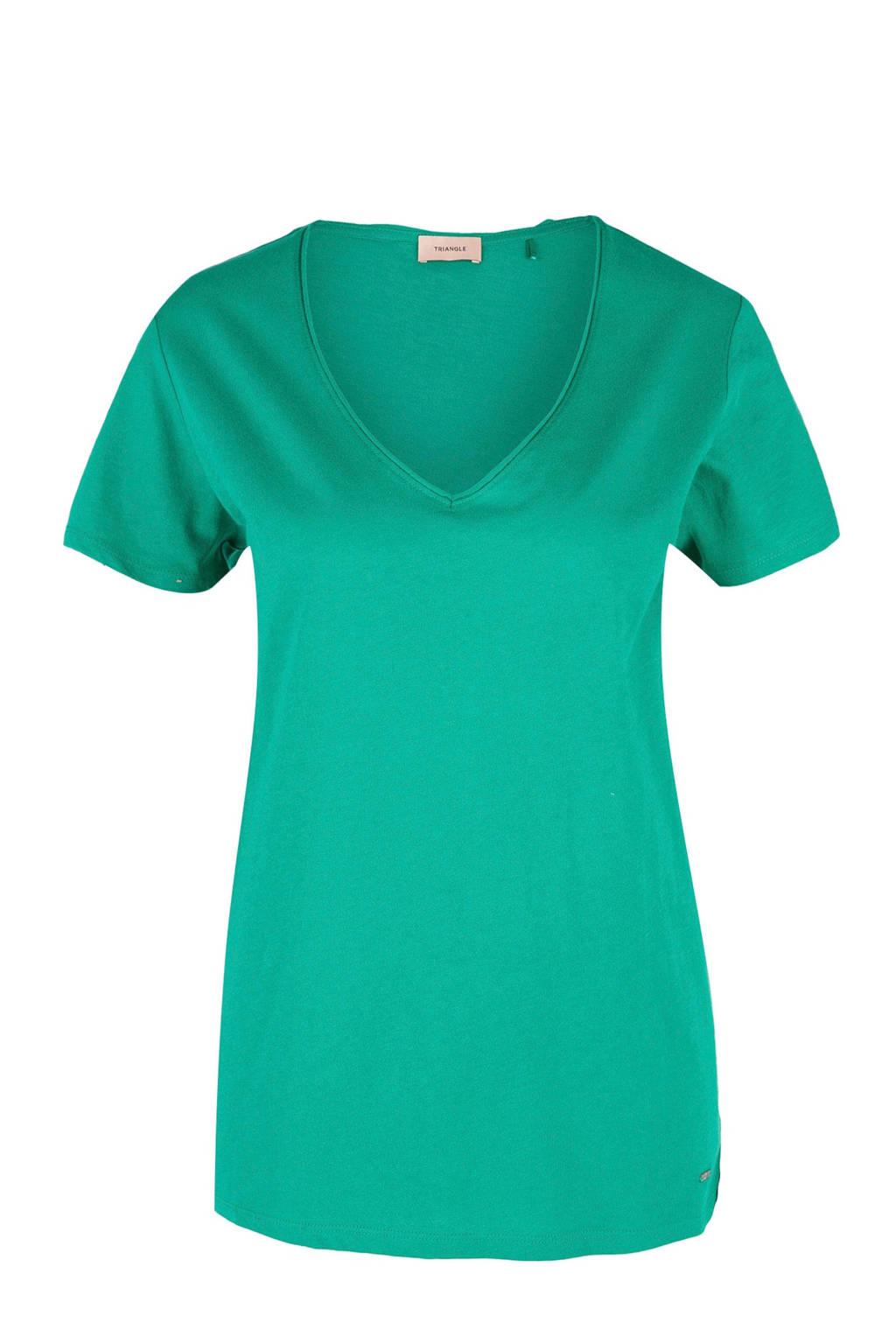 TRIANGLE T-shirt groen, Groen