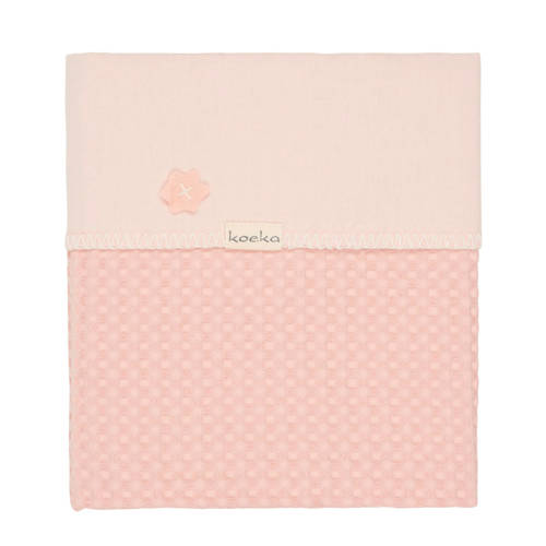 Koeka Antwerp baby wiegdeken roze 75x100 cm