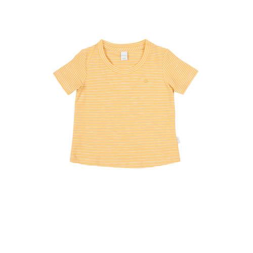 Koeka newborn baby gestreept T-shirt Linescape oker