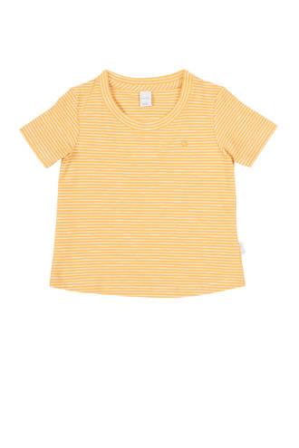 newborn baby gestreept T-shirt Linescape oker