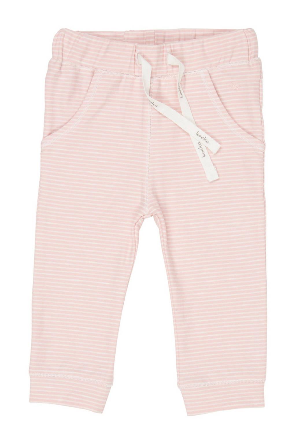 Koeka baby gestreepte broek Linescape roze/wit, Roze/wit