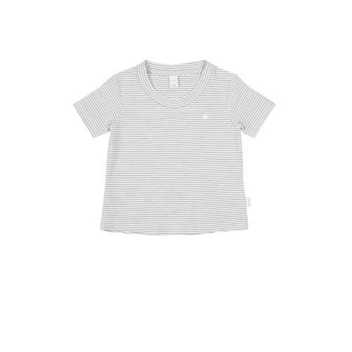 Koeka newborn baby gestreept T-shirt Linescape wit