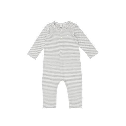 Koeka newborn baby gestreept boxpak Linescape wit-grijs