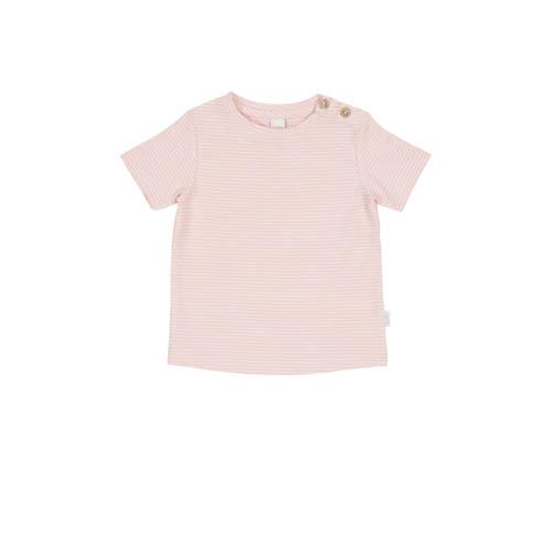 Koeka newborn baby gestreept T-shirt Linescape roze