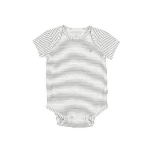 Koeka newborn baby gestreepte romper Linescape wit