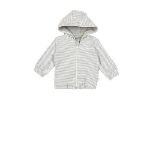 Koeka newborn baby gestreept vest Linescape wit