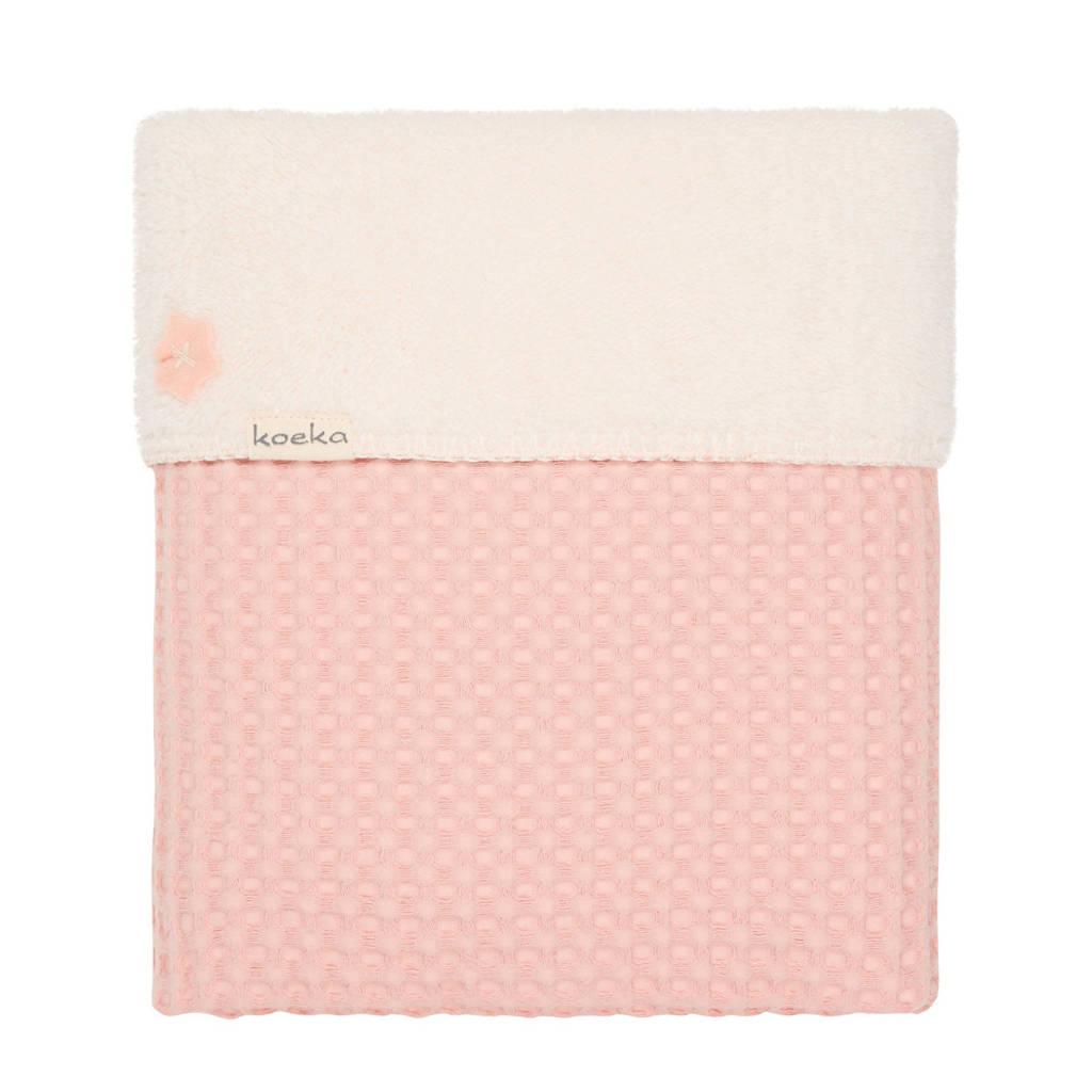 Koeka Oslo baby ledikantdeken roze 100x150 cm, Roze