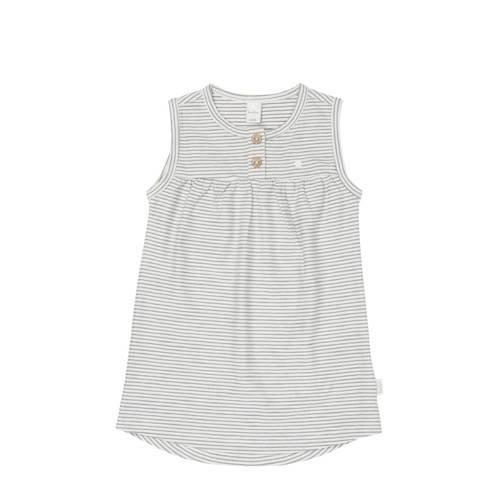 Koeka newborn baby gestreepte jurk Linescape wit