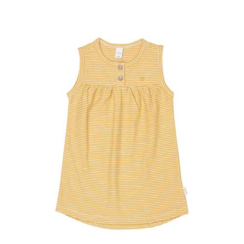 Koeka newborn baby gestreepte jurk Linescape oker