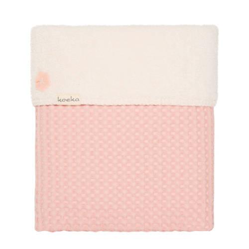 Koeka Oslo baby wiegdeken roze 75x100 cm