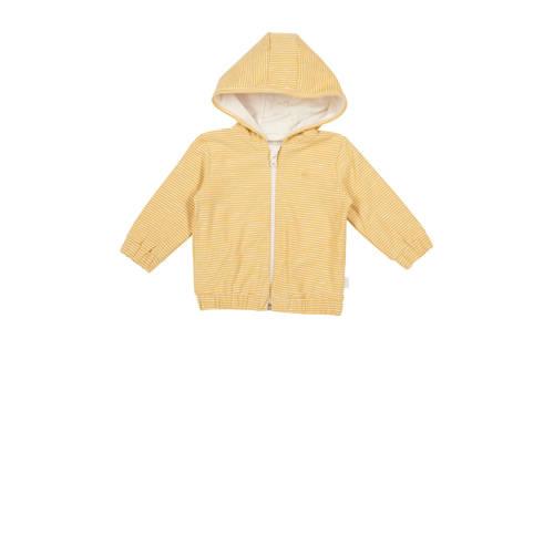 Koeka newborn baby gestreept vest Linescape oker