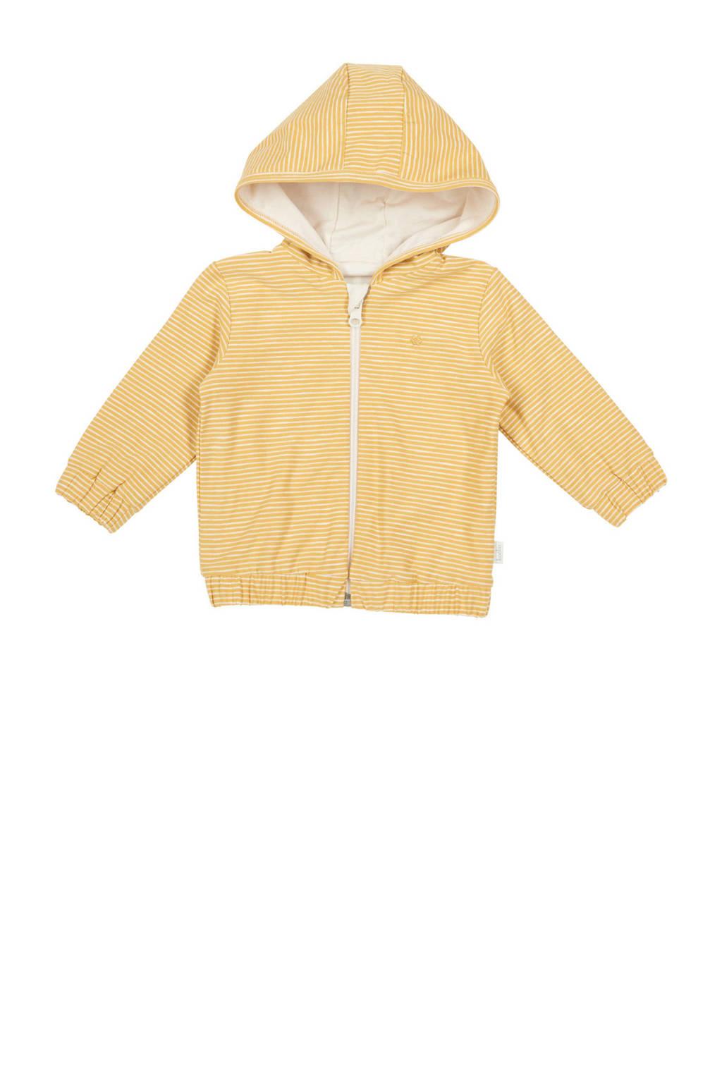 Koeka newborn baby gestreept vest Linescape oker, Oker