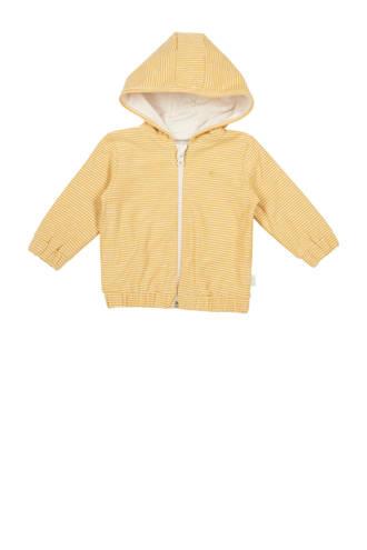 newborn baby gestreept vest Linescape oker