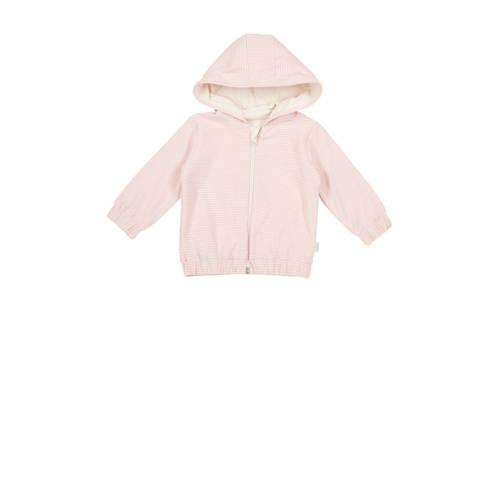 Koeka newborn baby gestreept vest Linescape roze