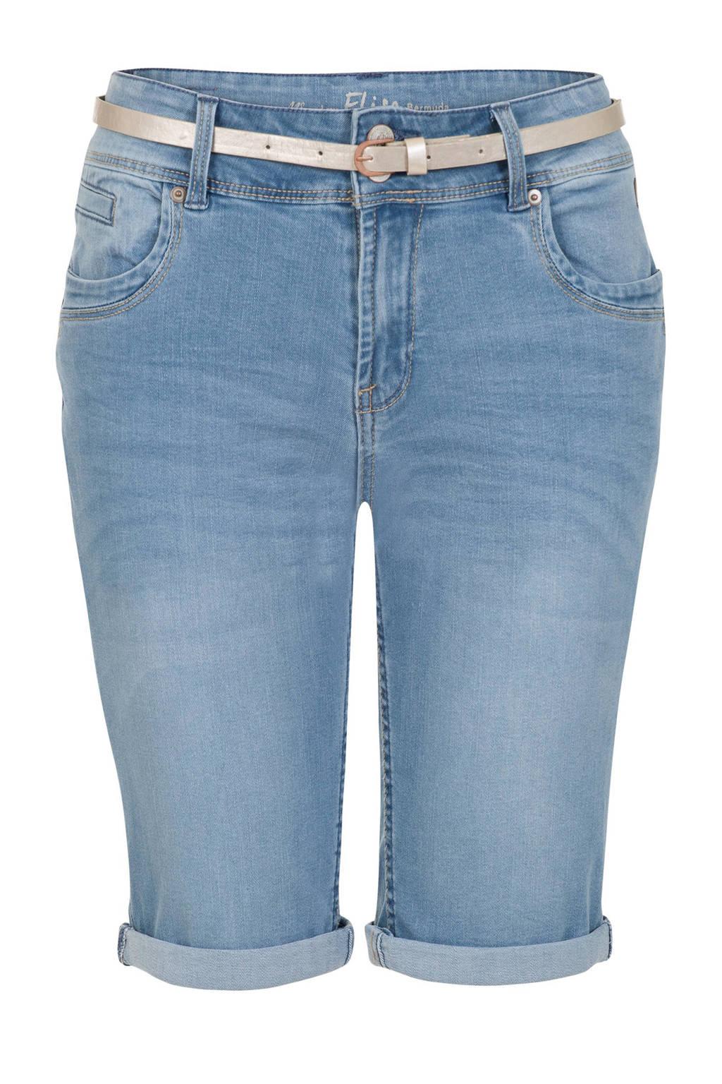 Miss Etam Regulier jeans short, Light denim