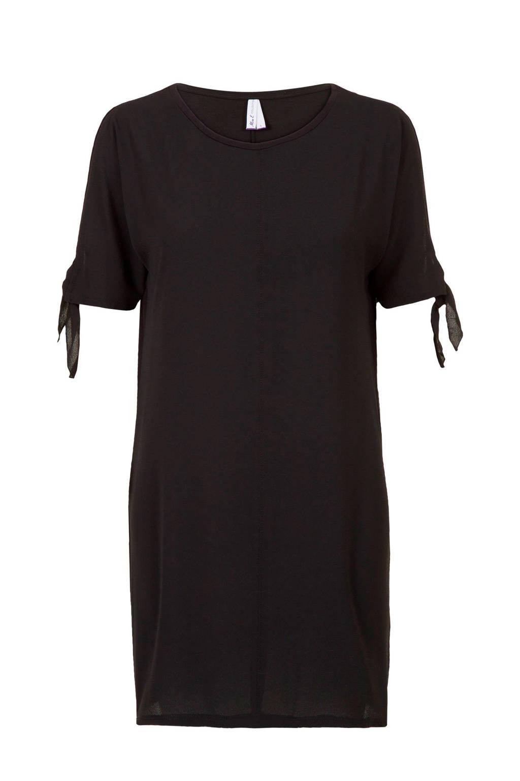 Miss Etam jurk met strikdetail zwart, Zwart